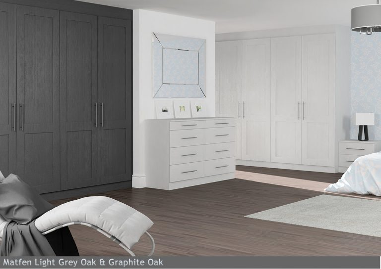 Matfen Light Grey Oak & Graphite Oak