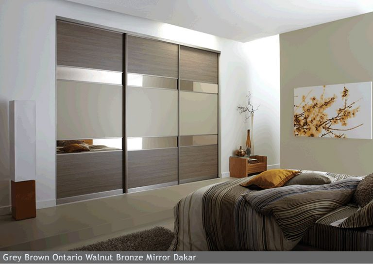 Grey Brown Ontario Walnut Bronze Mirror Dakar