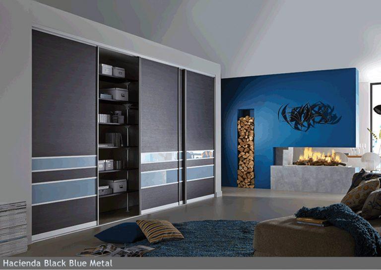 Hacienda Black Blue Metal